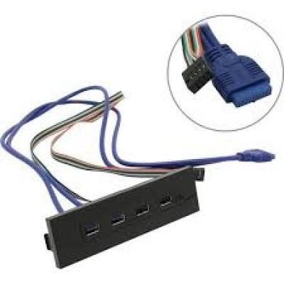 Планка USB на переднюю панель Exegate U5H-614