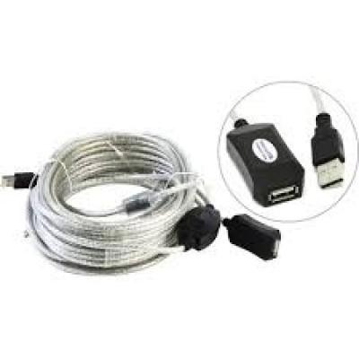 Кабель USB - удлинитель активный Aopen <ACU823-20M> Am-Af, 20m