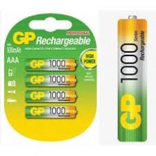 Аккумулятор GP AAA 1000mAh 100AAAHCBB-2PLC4 4BP