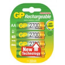 Аккумулятор GP AA 2700mAh 270AAHCBB8-2PLC4 4BP