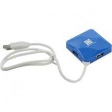 Концентратор USB-хаб 5bites 4 порта синий (HB24-202BL)