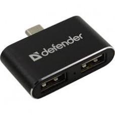 Концентратор Defender Quadro Type-C 83207
