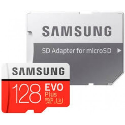 Карта памяти Micro SDXC 128 GB Samsung EVO PLUS Class 10 U3 (UHS-I) + SD адаптер MB-MC128GA/RU