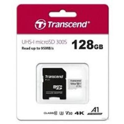 Карта памяти Micro SDXC 128 GB Transcend UHS-I V30 TS128GUSD300S-A