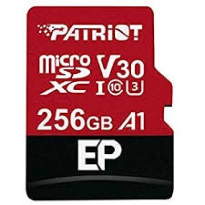 Карта памяти Micro SDXC 256 GB Patriot EP Series Class 10 U3 V30 A1 + SD адаптер (PEF256GEP31MCX )