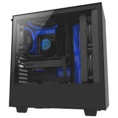 Корпус NZXT H500 BLACK/BLUE без  БП