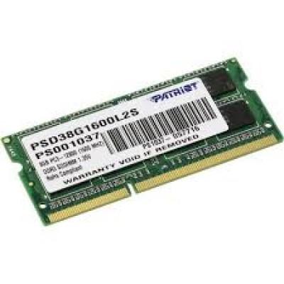 Оперативная память SO-DDR-3 8GB PC-12800 Patriot [PSD38G1600L2S]