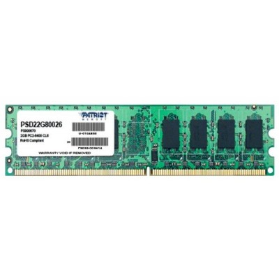 Оперативная память DDR-2 4GB (2x2GB) PC-6400 Patriot [PSD24G800K]