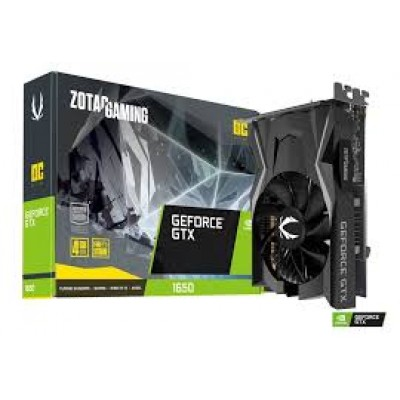 Видеокарта ZOTAC GeForce GTX 1650 Gaming OC GDDR6 4GB <ZT-T16520F-10L> (4096MB, 128bit, GDDR6) Retail