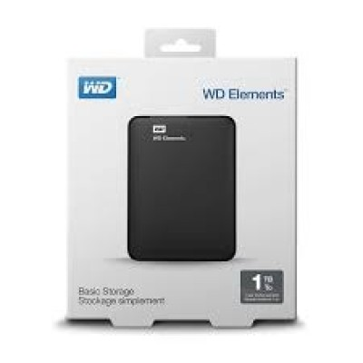 "Внешний жесткий диск 2.5"" 1TB WD Elements SE [WDBEPK0010BBK-WESN] USB3.0 Black"